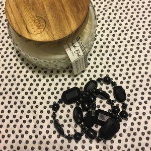 Jewelry - Black chunky layering bracelets